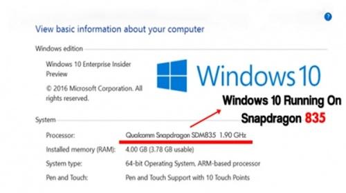 Microsoft khẳng định máy tính Windows 10 sẽ chạy Snapdragon 835, dự kiến ra mắt cuối năm nay
