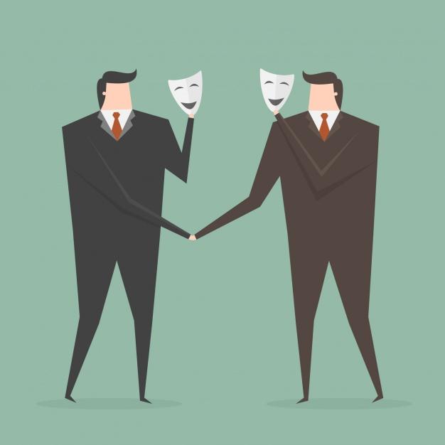 """5 điều sẽ khiến bạn lọt vào """"sổ đen"""" tuyển dụng Two-businessmen-with-masks_1133-276"""