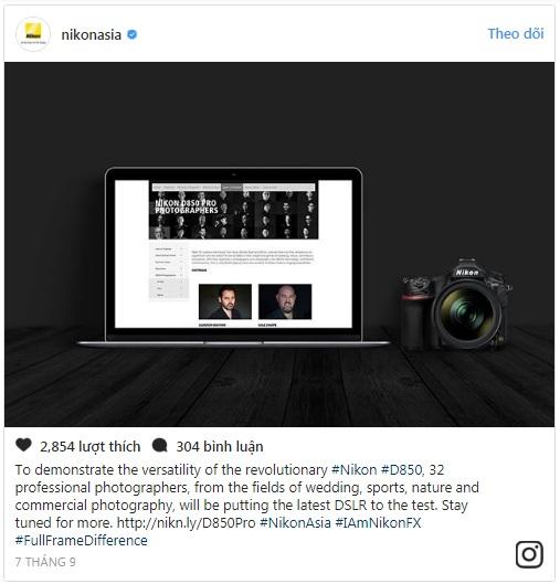 Nikon đưa ra thông báo về 32 nhiếp ảnh gia sẽ tham gia chiến dịch của họ trên Twitter.