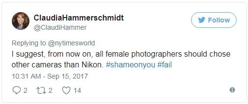 Tôi nghĩ từ giờ các nhiếp ảnh gia nữ nên tẩy chay camera của Nikon đi thì hơn.