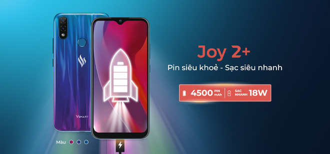 Vsmart ra mắt Joy 2 Plus: Pin 4500mAh, camera kép, Snapdragon 450 - Ảnh 3.