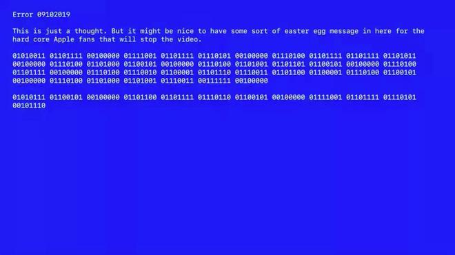 Apple dùng màn hình xanh chết chóc gửi mật thư cho iFan ngay trên sân khấu ra mắt iPhone 11 - Ảnh 1.