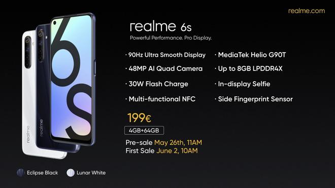 Realme 6s ra mắt: Helio G90T, 4 camera 48MP, pin 4300mAh, giá 5.1 triệu đồng - Ảnh 2.