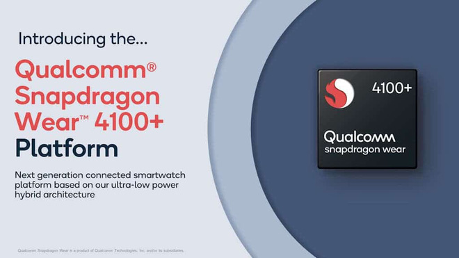 Qualcomm ra mắt chip xử lý Snapdragon Wear 4100 và 4100+, tăng thêm 85% sức mạnh cho smartwatch - Ảnh 1.