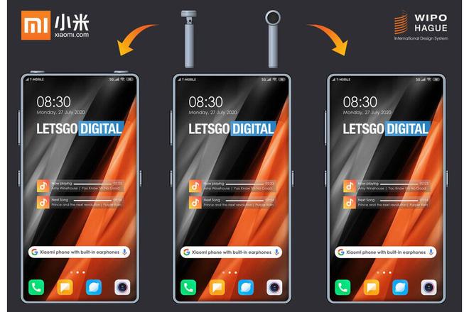 Xiaomi đăng ký bằng sáng chế smartphone với tai nghe true wireless gắn bên trong thân máy - Ảnh 1.