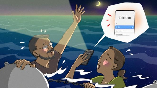Galaxy S10 giúp giải cứu một cặp vợ chồng người Úc bị trôi trên biển sau khi thuyền bị lật - Ảnh 1.