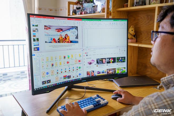 Trải nghiệm nhanh Samsung Odyssey G7: màn hình gaming 240Hz có điểm nhấn công nghệ QLED - Ảnh 19.