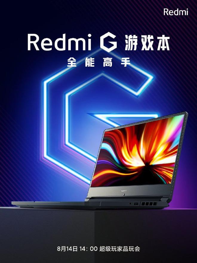 Hình ảnh đầu tiên của laptop gaming Redmi G, ra mắt ngày 14/8 - Ảnh 1.