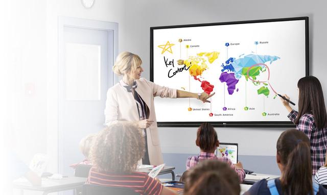 Màn hình tương tác LG TR3BF: Chiếc bảng công nghệ có khả năng viết và xoá bằng tay - Ảnh 1.