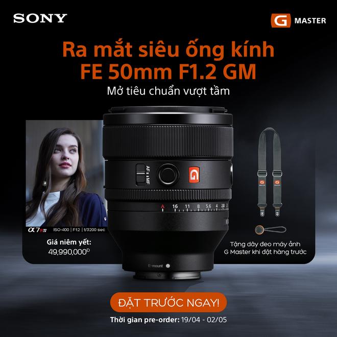 Sony ra mắt ống kính FE 50mm F1.2 G Master và 3 ống kính dòng G nhỏ gọn nhẹ mới, giá 49.99/14.99 triệu đồng - Ảnh 7.