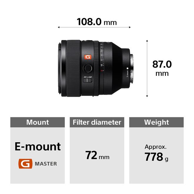 Sony ra mắt ống kính FE 50mm F1.2 G Master và 3 ống kính dòng G nhỏ gọn nhẹ mới, giá 49.99/14.99 triệu đồng - Ảnh 6.