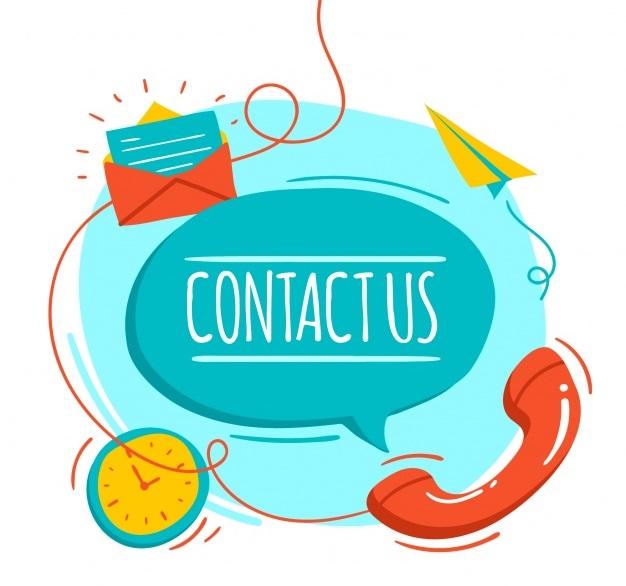 Giữ liên lạc với nhà tuyển dụng có khó không? Background-with-hand-drawn-contact-elements_23-2147608293