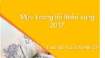 Mức lương tối thiểu vùng 2017 mới nhất