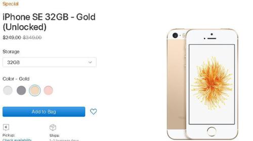 Apple lần thứ 2 mở bán trở lại iPhone SE, vẫn giảm giá 100 USD cho 32GB và 150 USD cho 128GB