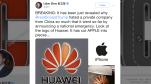 Nhà ngoại giao Trung Quốc dùng iPhone đăng tweet ủng hộ Huawei, chế giễu Apple