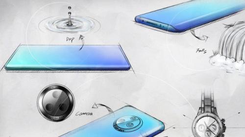 """Vivo tiết lộ các bản vẽ phác thảo đầy nghệ thuật của thiết kế màn hình """"thác nước"""" trên NEX 3"""