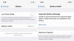 iPhone hiển thị cảnh báo sau khi người dùng thay pin tại các cơ sở không được ủy quyền, vẫn sử dụng bình thường