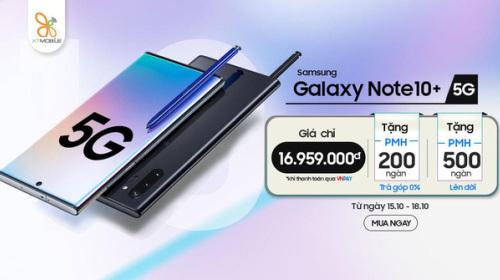 Galaxy Note 10+ 5G giá chỉ 16,9 triệu đồng đáng mua bậc nhất hiện nay