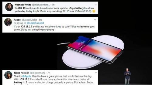 Nhiều người dùng phàn nàn vì bản cập nhật iOS 13 mới ngốn pin, dùng 2 tiếng hết 70%
