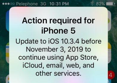 Nếu vẫn đang sử dụng iPhone 5, hãy cập nhật ngay iOS 10.3.4 ngay để chiếc điện thoại của bạn không bị biến thành cục gạch
