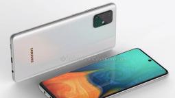 Samsung Galaxy A71 lộ thiết kế với cụm camera sau hình chữ nhật, màn hình đục lỗ giống Note 10