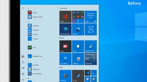 Microsoft ra mắt giao diện thiết kế mới của Start Menu, thêm tính năng cho tổ hợp phím Alt-Tab