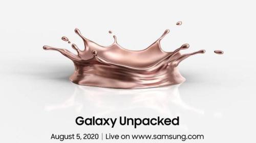 Samsung chính thức thông báo sự kiện Unpacked 2020 ra mắt Galaxy Note 20 sẽ diễn ra vào ngày 5 tháng 8
