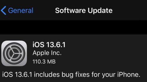 Apple phát hành iOS 13.6.1: Khắc phục lỗi màn hình xanh trên iPhone và lỗi đầy bộ nhớ