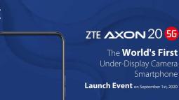Smartphone có camera ẩn dưới màn hình đầu tiên trên thế giới sẽ chính thức được ra mắt vào ngày 1 tháng 9