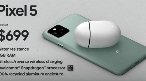 Pixel 5 ra mắt: Snapdragon 765G, camera kép, có kháng nước IP68, giá từ 699 USD