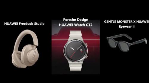 """Huawei ra mắt bộ ba phụ kiện """"chanh sả"""" cho Mate40: Watch GT 2 Porsche Design, tai nghe FreeBuds Studio, kính thông minh Gentle Monster"""