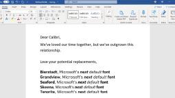 Tại sao Microsoft muốn thay đổi phông chữ mặc định cho bộ công cụ văn phòng Microsoft Office?